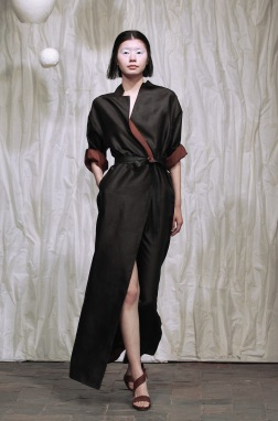 Long blouse evening dress; Kathrin Von Rechenberg
