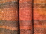 Alpaca, various natural colors in warp and weft, dyed with madder (rubia cordifolia)