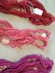 Wool skeins after drying; Photo Credit: Anu Ravi